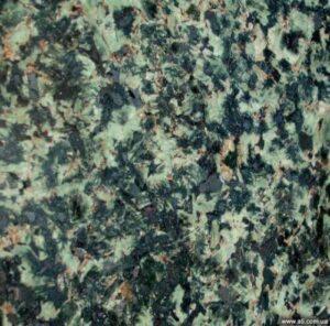 Green natural Ukrainian granite - Black Lime