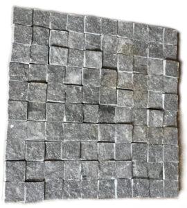 Dark granite natural setts with sawn sides (Gabbro)