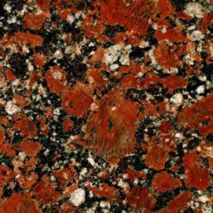 Red natural Ukrainian granite - Rosso Santiago