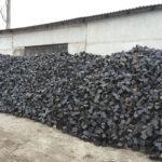Множество чёрной брусчатки из камня Базальт 20×10×10