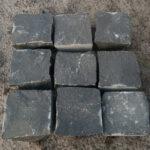 Брусчатка из чёрного камня Базальт 10×10×5