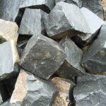 Брусчатка из чёрного камня Базальт 10×10×10